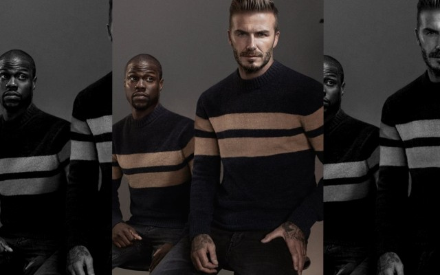 David Beckham traz o comediante Kevin Hart na sua Modern Essentials Collection de Outono 2015 para H&M