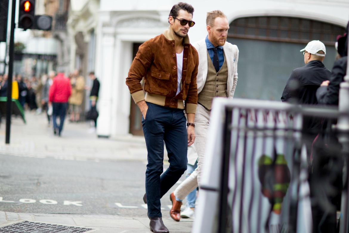 david-gandy-wearing-suede-london-fashion-week-street-style