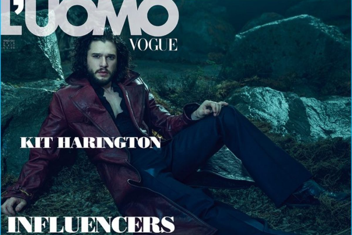 L'Uomo Vogue traz Kit Harington ao estilo dark de Jon Snow