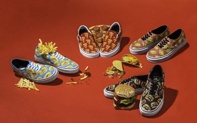 """Vans apresenta a campanha """"Late Night Pack"""" com estampas de comidas"""