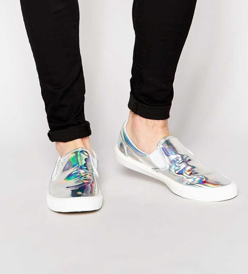 shoes-cheap-sale-mens-asos-slip-on-sneakers-in-metallic-silver-shoes