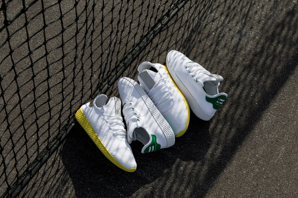 "Pharrell Williams traz nova linha ""Tennis HU"" com Adidas Originals"