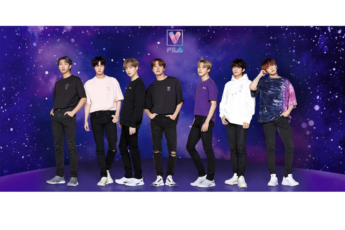 Fila apresenta coleção em parceria com o BTS